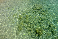 水晶海水 库存图片