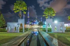 水晶清真寺在瓜拉登嘉楼,登嘉楼,马来西亚 库存照片