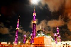 水晶清真寺在登嘉楼,马来西亚 图库摄影