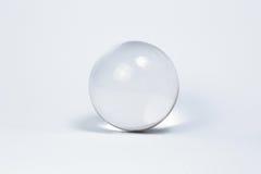 水晶球使玻璃有大理石花纹 库存照片