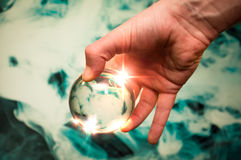 水晶球星系 免版税库存照片