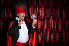水晶球魔术师 免版税库存图片