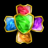 水晶盾 皇族释放例证