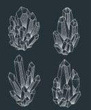 水晶群纹身花刺设计 库存图片