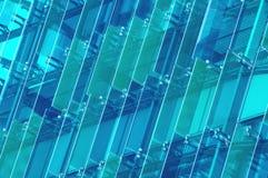水晶门面 抽象背景大厦 免版税图库摄影