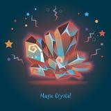 水晶魔术 库存图片