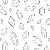 水晶,无缝的样式 免版税库存照片