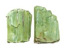 水晶绿色阳起石 免版税库存图片