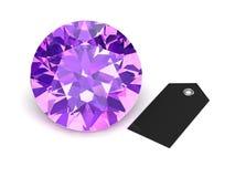 紫晶(高分辨率3D图象) 皇族释放例证