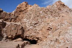智利、阿塔卡马沙漠、月亮谷& x28; 瓦尔de la Luna& x29; 库存图片