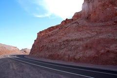智利、阿塔卡马沙漠、死亡谷& x28; 瓦尔de la Muerte& x29; 库存照片
