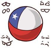 智利国家球 向量例证