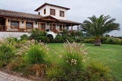 智利国家(地区)庭院房子 免版税库存照片