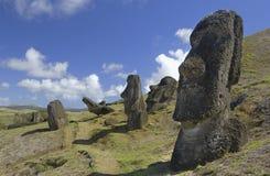 智利复活节岛moai南的太平洋 库存图片