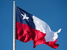 智利标志查出的天空 库存图片