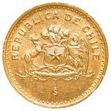 100智利比索硬币 免版税图库摄影