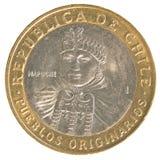 100智利比索硬币 免版税库存照片