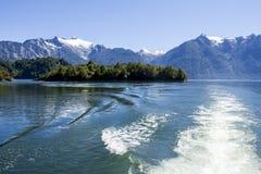 智利海湾的里面段落 免版税库存照片