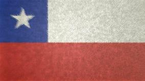 智利的旗子的原始的3D图象 库存例证