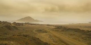 智利的沙漠海岸 库存照片