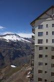 智利的滑雪中心 库存照片