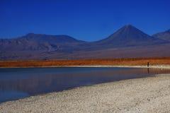智利盐水湖 免版税库存照片