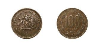 智利硬币 免版税库存照片