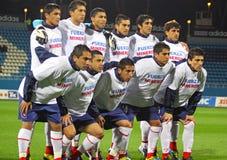 智利组国家照片姿势足球小组 免版税库存照片