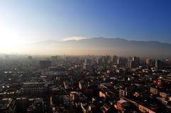 智利,圣地亚哥de智利,都市风景 免版税库存照片