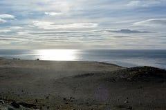 智利 在麦哲伦海峡的日落 库存图片