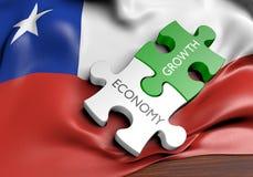 智利经济和金融市场成长概念 皇族释放例证