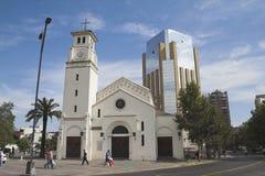 智利church de n公羊圣・圣地亚哥 免版税库存照片