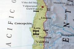 智利concepcion ・圣地亚哥 库存照片