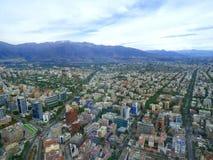 智利de全景圣地亚哥视图 库存照片