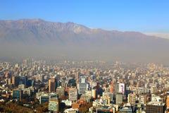 智利de全景圣地亚哥视图 图库摄影