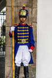 智利de卫兵la moneda palacio总统圣地亚哥 免版税库存照片