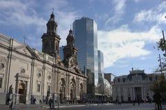 智利de圣地亚哥广场 库存照片