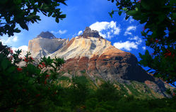 智利del国家paine公园torres 免版税图库摄影