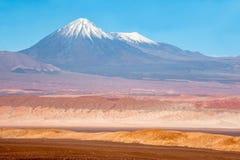 智利juriques licancabur火山 库存照片