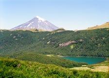 智利lanin火山 库存图片
