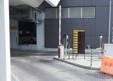 智力与闭路电视的停车场入口 库存照片