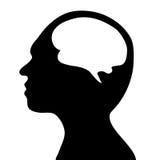 智力的概念 与外界的人通信 库存图片
