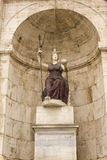 智慧女神雕象。Campidoglio,罗马,意大利。 免版税库存照片