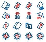 智能手机、规格和作用 库存照片