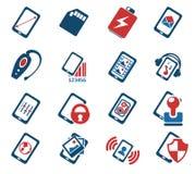 智能手机、规格和作用 库存图片