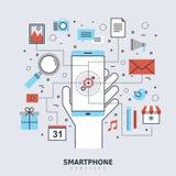 智能手机为概念服务 向量例证