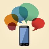 智能手机信息向量设计例证 免版税图库摄影