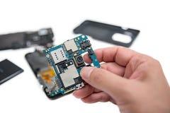 智能手机修理 免版税库存图片