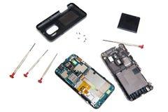 智能手机修理 库存图片