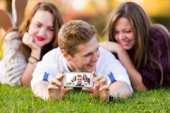 智能手机做的质量照片 库存图片